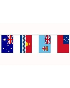 14 Oceania Nations Buntings 5.5m (14 flags)