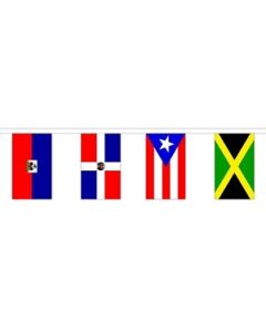 30 Caribbean Nation Buntings 9m (30 flags)