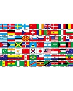 70 Nations Flag (90x150cm)