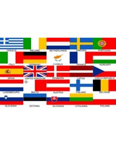 Euro 25 Nations Flag (90x150cm)