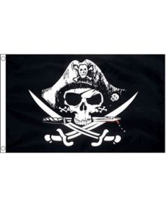 Crossed Sabers - Pirate Flag (150x240cm)