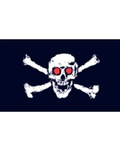 Jolly Roger Red Eyes - Pirate Flag (90x150cm)