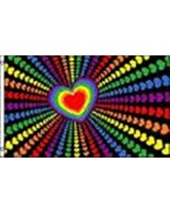 Rainbow Love Flag (90x150cm)