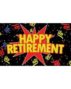 Happy Retirement Black Flag (90x150cm)
