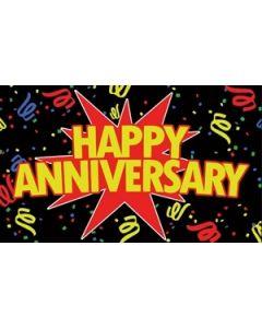 Happy Anniversary Black Flag (90x150cm)
