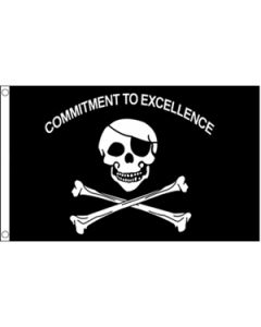 Commitment To Excellence Flag (90x150cm)