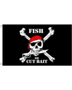 Pirate Fish Flag (90x150cm)