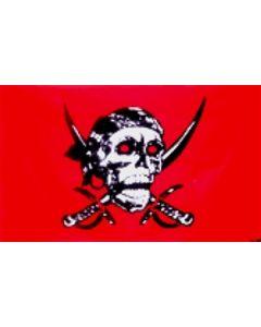 Red Skull - Pirate Flag (90x150cm)