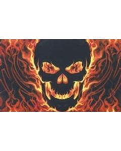 Skull with Fire Flag (90x150cm)