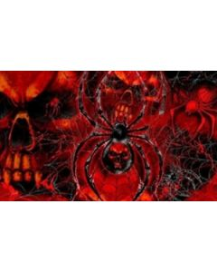 Skull with Spider Flag (90x150cm)