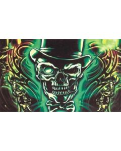 Skull with Top Hat Flag (90x150cm)