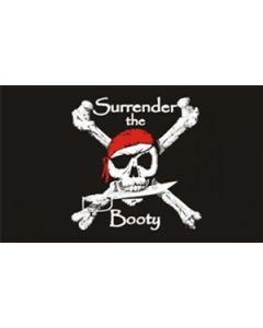 Surrender the Booty - Pirate Flag (90x150cm)