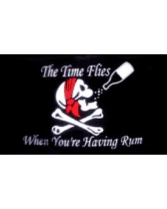 Time Flies When You Have Rum - Pirate Flag (90x150cm)
