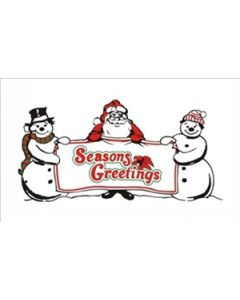 Seasons Greetings Flag (90x150cm)
