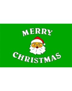 Merry Christmas Green Flag (90x150cm)