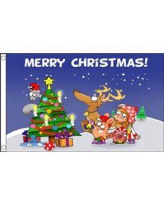 Christmas Scene Flag (90x150cm)