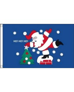 Christmas HO HO HO Flag (90x150cm)