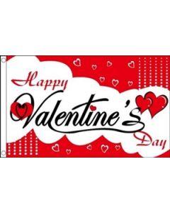Happy Valentines Day Flag (90x150cm)