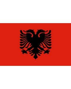 Albania Satin Flag (15x22cm)
