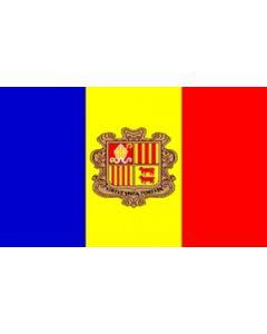 Andorra Satin Flag (15x22cm)