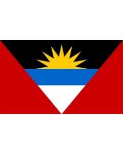 Antigua and Barbuda Satin Flag (15x22cm)