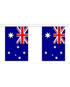 Australia Paper Buntings 4m - 10 flags (A4)