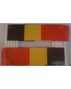 Belgium Toothpick Paper Flags (30x48mm)
