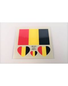 Belgium Tattoo (6x6cm)