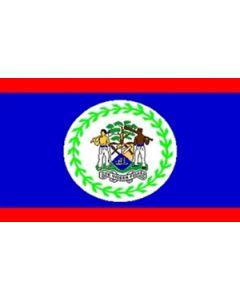 Belize Satin Flag (15x22cm)