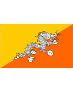 Bhutan Satin Flag (15x22cm)