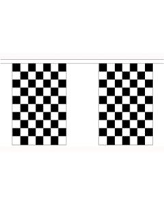 Black and White Check Buntings 3m (10 flags)