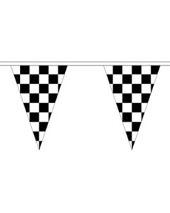 Black and White Check Triangle Buntings 20m (54 flags)