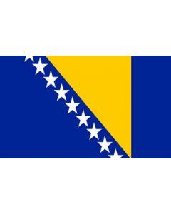 Bosnia and Herzegovina Satin Flag (15x22cm)