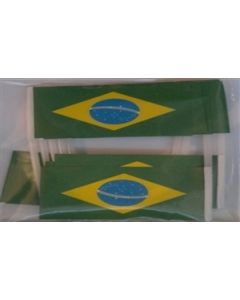 Brazil Toothpick Paper Flags (30x48mm)