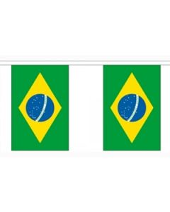 Brazil Paper Buntings 4m - 10 flags (A4)