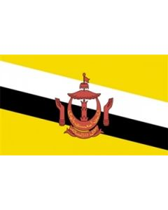 Brunei Satin Flag (15x22cm)