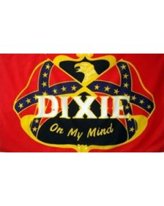 Dixie On My Mind Flag (90x150cm)