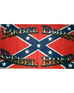 Rebel Born Rebel Wide Flag (90x150cm)