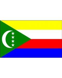 Comoros Satin Flag (15x22cm)
