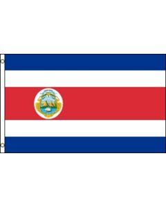 Costa Rica Satin Flag (15x22cm)
