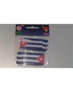 Cuba Toothpick Paper Flags (30x48mm)