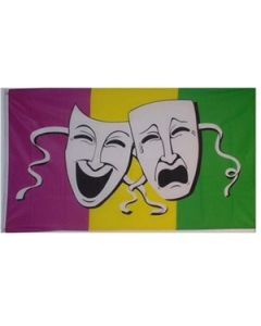 Comedy & Tragedy Flag (90x150cm)