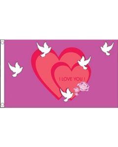 I Love You Flag (90x150cm)