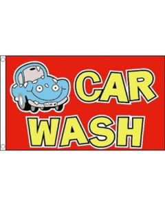 Car Wash Cartoon Flag (90x150cm)