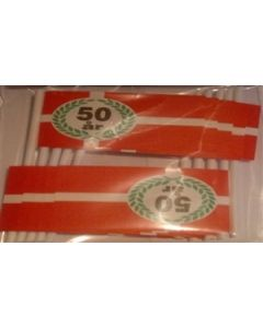 Denmark 50 years Toothpick Paper Flags (30x48mm)