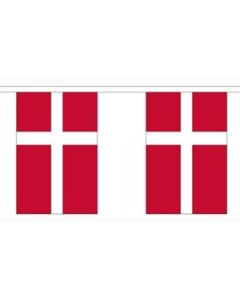 Denmark Paper Buntings 2.8m - 10 flags (A5)