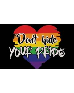 Dont Hide Your Pride Flag (90x150cm)