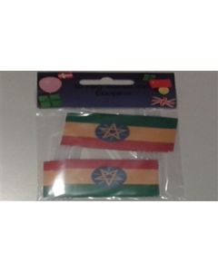 Ethiopia with Star Toothpick Paper Flags (30x48mm)