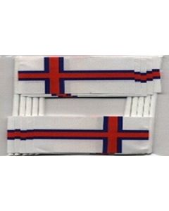 Faroe Islands Toothpick Paper Flags (30x48mm)