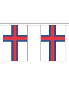 Faroe Islands Paper Buntings 4m - 10 flags (A4)